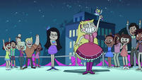 S1E10 Students cheering for Star