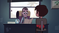 S2E3 Mr. Candle reading Marco's file