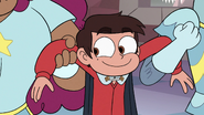 S3E14 Marco Diaz smiling giddily at Star Butterfly