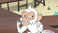 S4E2 Monkey shoots finger guns at Marco