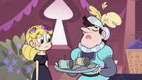S3E9 Manfred giving hors d'oeuvres to Star Butterfly