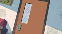 S2E16 Miss Skullnick closes the detention room door