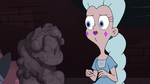 S4E15 Moon looking at bust of Queen Skywynne