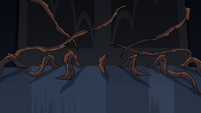 S3E25 Tree roots creeping into the castle ballroom