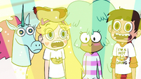 S2E13 Star Butterfly and friends stare at the light