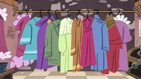 S3E28 Coat rack in the bureauracy closet