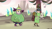 S3E17 Star and Dr. Goodwell disguised as monsters.png