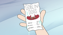 S3E18 Star holding a Goblin Dog receipt