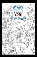 Star vs. the Forces of Evil Deep Trouble unreleased issue 8 cover (colorless)