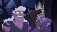 S3E38 Meteora holding soulless Marco in a throne
