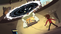 S3E18 Mewberty Star and bed rise toward the portal