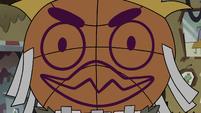 S3E30 Close-up of Brudo's basketball face