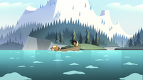 S2E10 Star, Marco, and King Butterfly on a boat