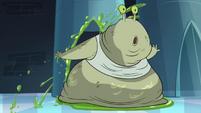 Slug pushing through elevator door S1E8