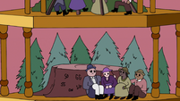 S3E25 Diorama of Mewni settlers carving their initials