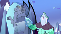 S2E34 Rhombulus tapping on Lekmet's crystal cage