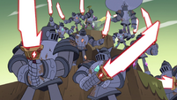 S4E35 Solarian Army mobilize and draw swords
