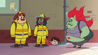 S2E16 Female firefighter 'it's probably him'