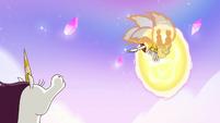 S3E23 Mewberty Star diving into the portal