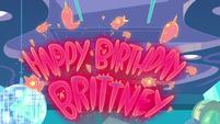 S1E10 'Happy Birthday, Brittney' in neon lights