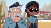 S4E29 Officer 'it seems to be frozen in place'