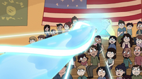 Star using magic in the gymnasium