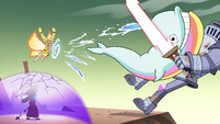 S4E33 Rainbow whale slams into Solarian Warrior