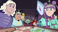 S3E2 Everyone in the meeting looks at Moon