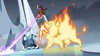 S4E5 Star propels herself over the fire demon