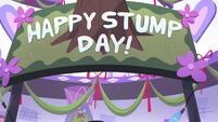S3E26 'Happy Stump Day!' banner