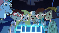S2E17 Star and company stare at the Truth Cube