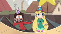 S2E29 Marco excitedly pulling his hood cords