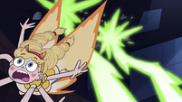 S3E38 Star flying away from Meteora's beams