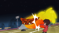 S1E4 Marco karate-chops firecat