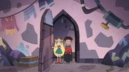 S3E14 Star and Marco enter the castle laundry room