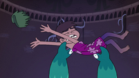 S4E4 Marco tosses the loincloth at Star