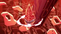 S2E17 Truth or Punishments cube cuts through a pillar