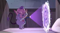 S4E17 Glossaryck opens a portal with his foot