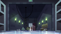 S4E11 Star, Marco, and Janna enter the storeroom