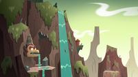 S3E3 Ludo plummeting down a waterfall