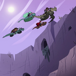 S4E22 Riders Club flying over a gorge.png