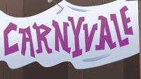 S4E1 Pie Carnival sign misspelled