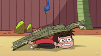 S2E14 Marco weighed down by the instruction book