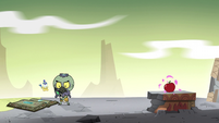 S2E35 Another apple appears across from Ludo