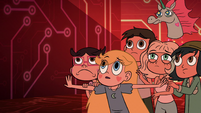 S2E17 Star Butterfly and friends cowering in fear