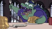 S3E16 Troll princess happily eating pancakes