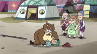 S4E25 River 'you are being mauled by a bear!'