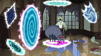 S3E30 Spider jumping from portal to portal