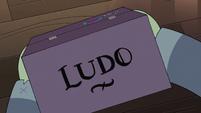 S3E30 Cardboard box with Ludo's name