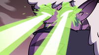 S3E36 Meteora Butterfly blasts lasers at Eclipsa